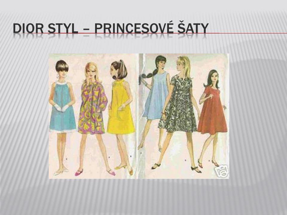 Dior styl – princesové Šaty