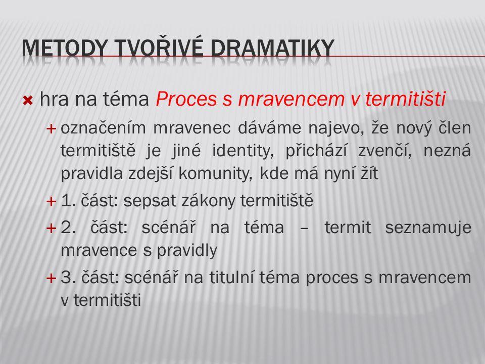 Metody tvořivé dramatiky