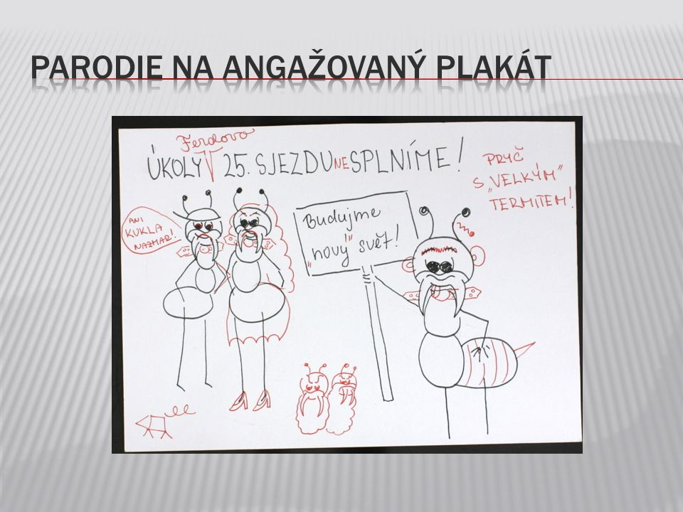 Parodie na angažovaný plakát