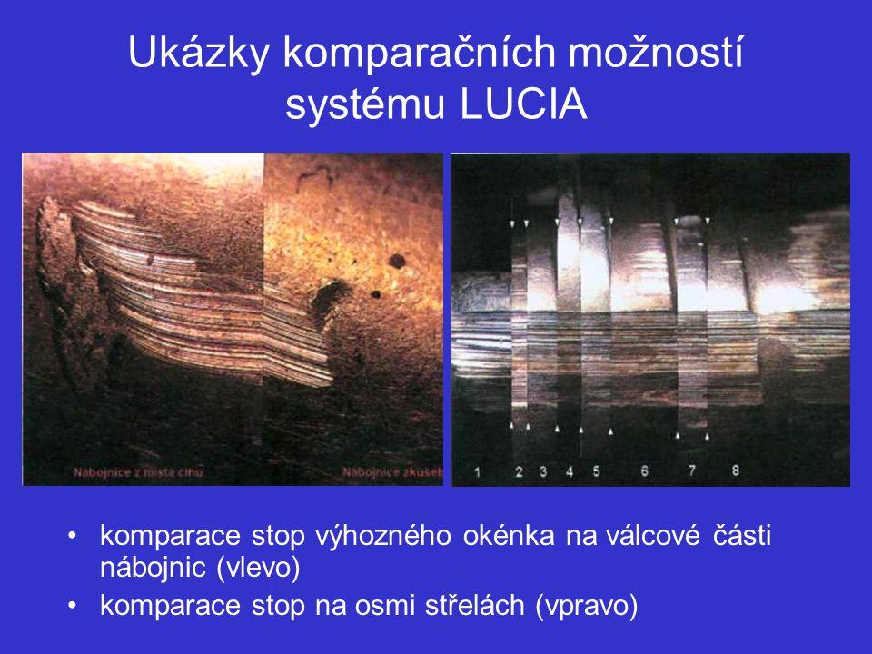 Ukázky komparačních možností systému LUCIA