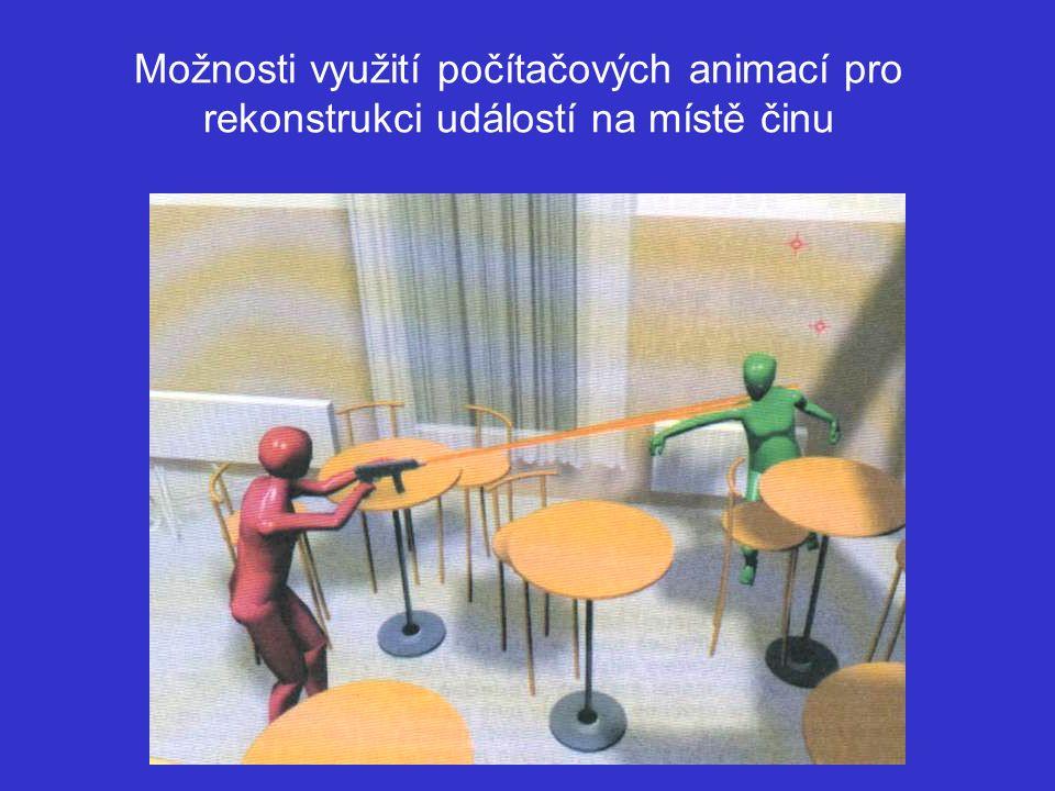 Možnosti využití počítačových animací pro rekonstrukci událostí na místě činu