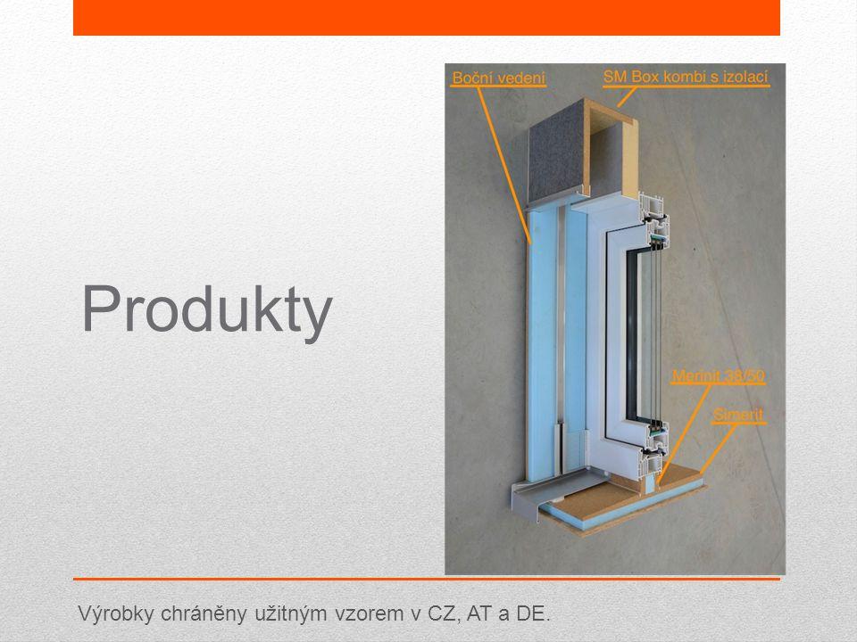 Výrobky chráněny užitným vzorem v CZ, AT a DE.
