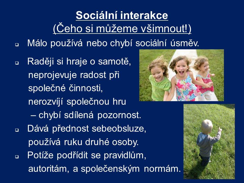 Sociální interakce (Čeho si můžeme všimnout!)