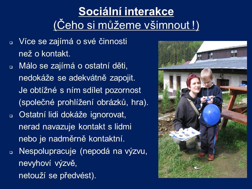 Sociální interakce (Čeho si můžeme všimnout !)