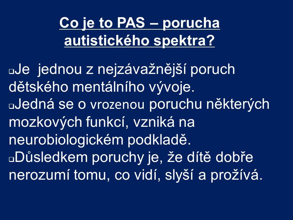 Co je to PAS – porucha autistického spektra