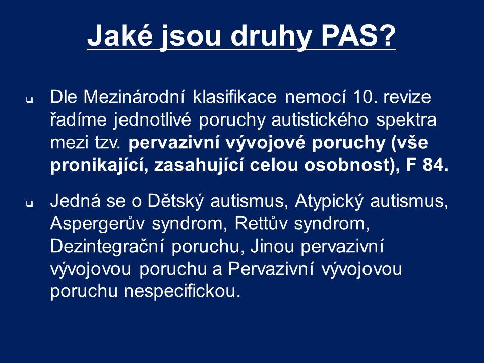 Jaké jsou druhy PAS