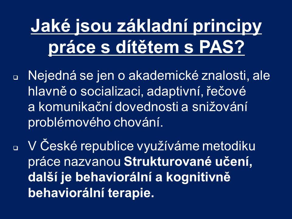 Jaké jsou základní principy práce s dítětem s PAS
