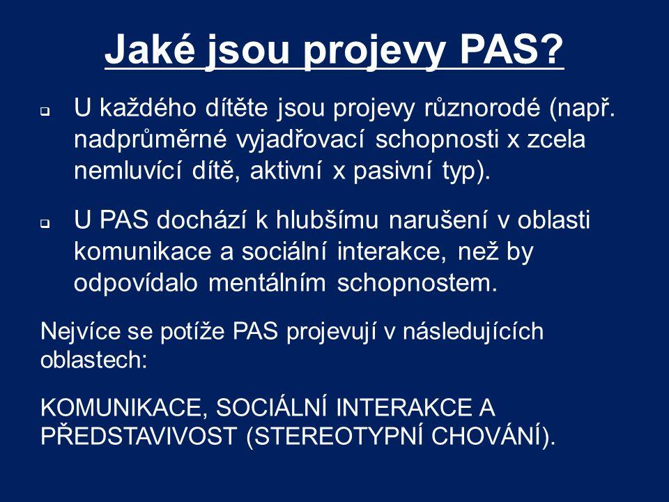 Jaké jsou projevy PAS