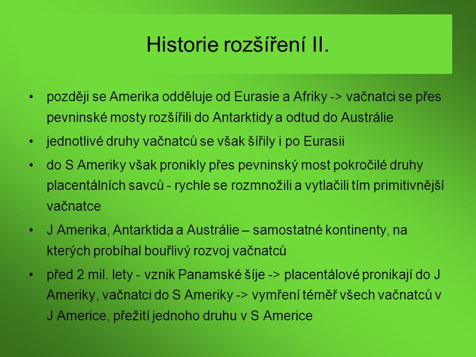 Historie rozšíření II.