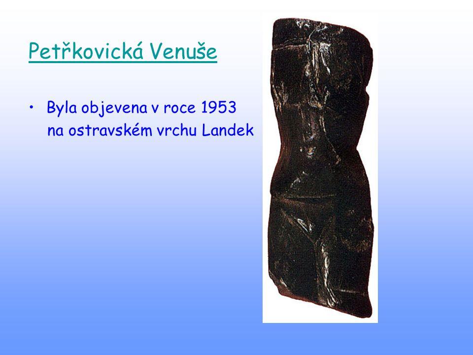 Petřkovická Venuše Byla objevena v roce 1953
