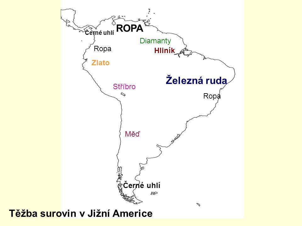 Těžba surovin v Jižní Americe