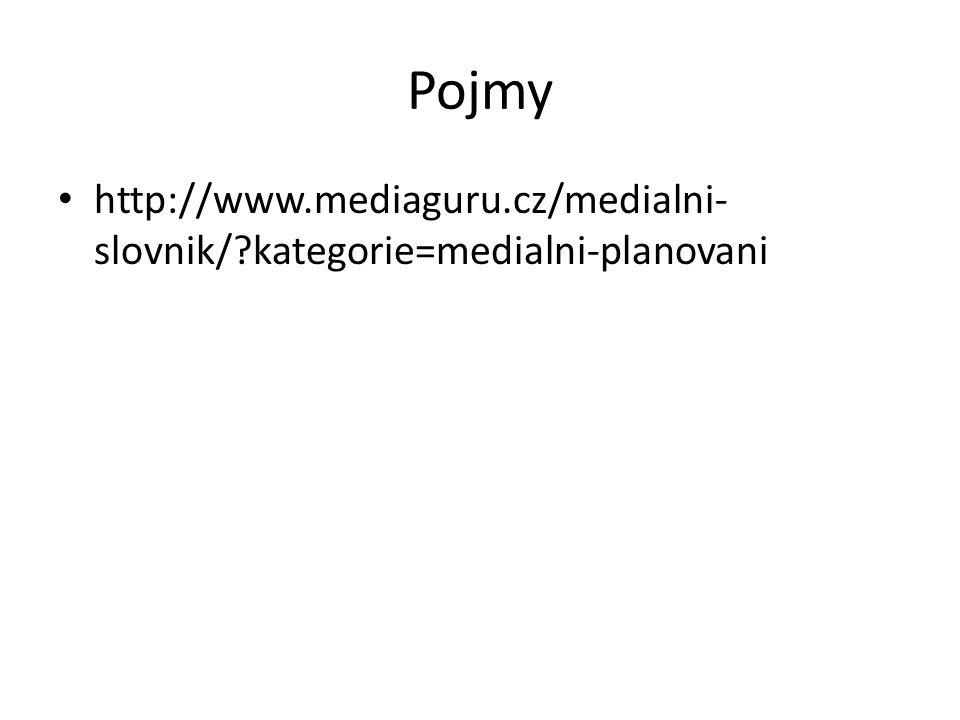 Pojmy http://www.mediaguru.cz/medialni-slovnik/ kategorie=medialni-planovani