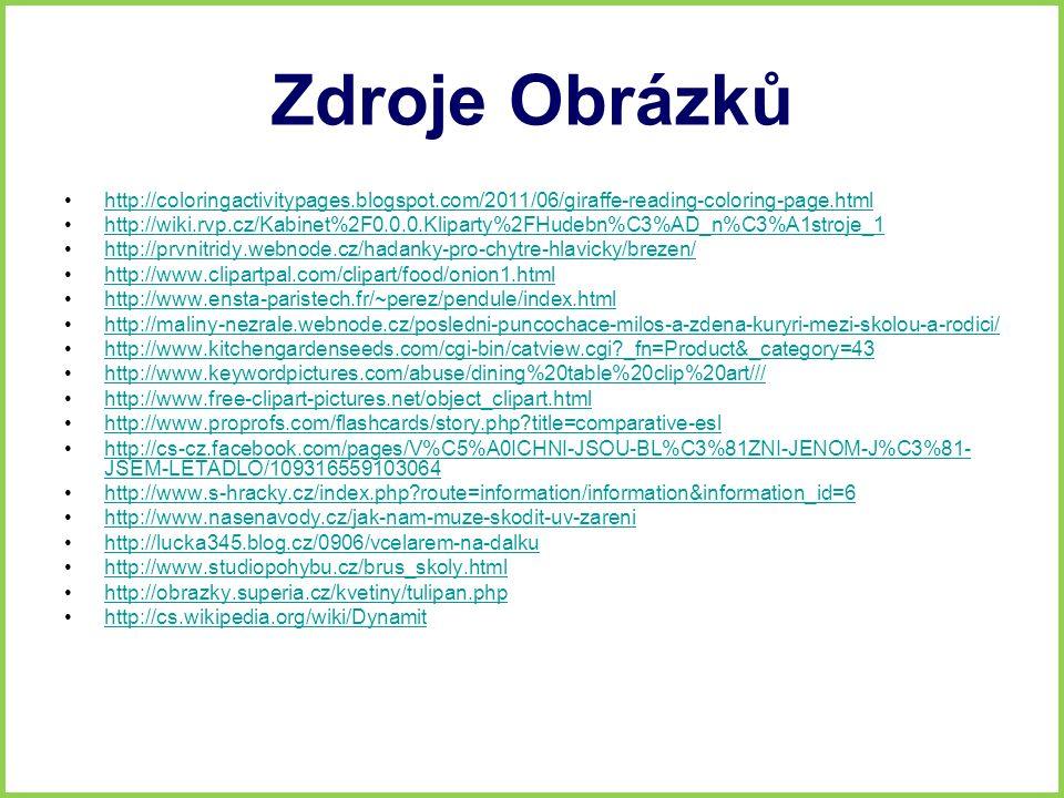 Zdroje Obrázků http://coloringactivitypages.blogspot.com/2011/06/giraffe-reading-coloring-page.html.