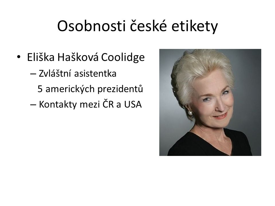 Osobnosti české etikety