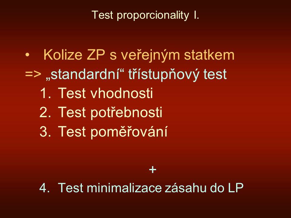 Test proporcionality I.