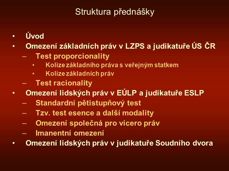 Struktura přednášky Úvod