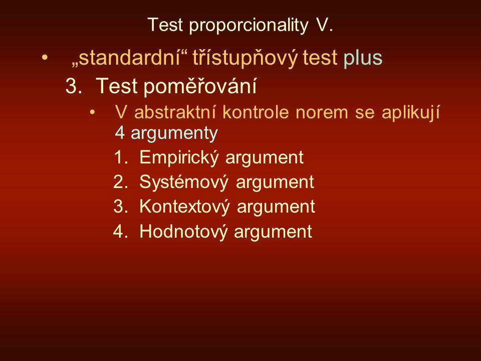 Test proporcionality V.