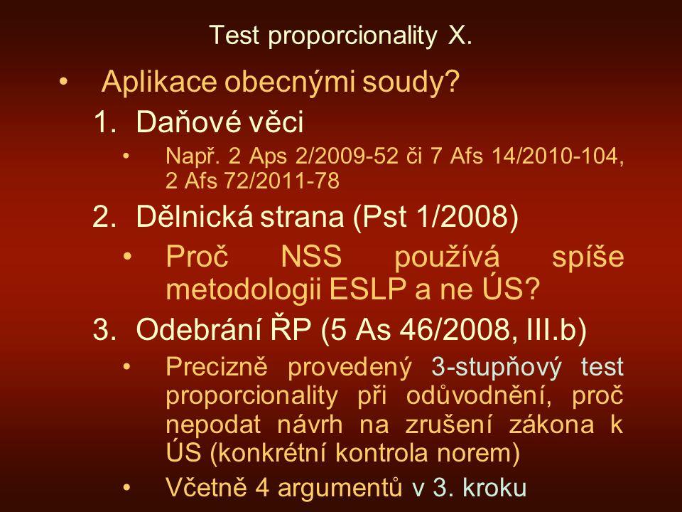 Test proporcionality X.
