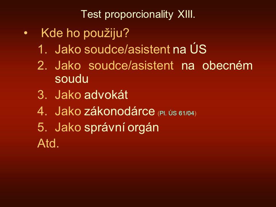 Test proporcionality XIII.