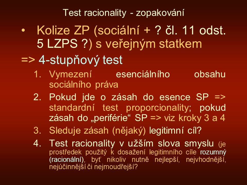 Test racionality - zopakování