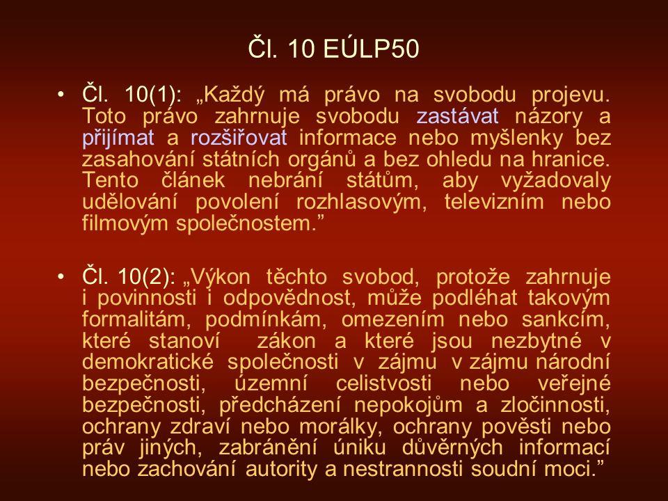 Čl. 10 EÚLP50