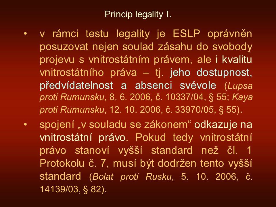Princip legality I.