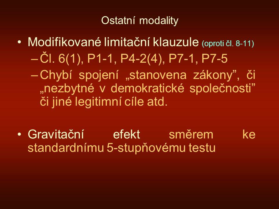 Modifikované limitační klauzule (oproti čl. 8-11)