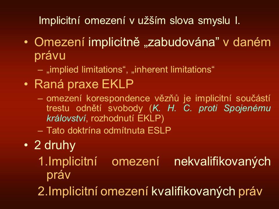 Implicitní omezení v užším slova smyslu I.
