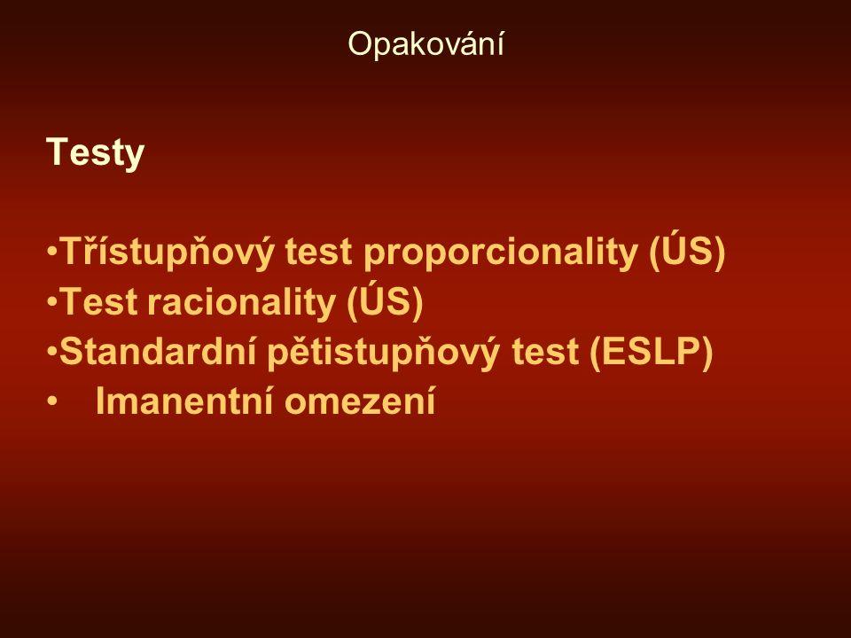 Třístupňový test proporcionality (ÚS) Test racionality (ÚS)