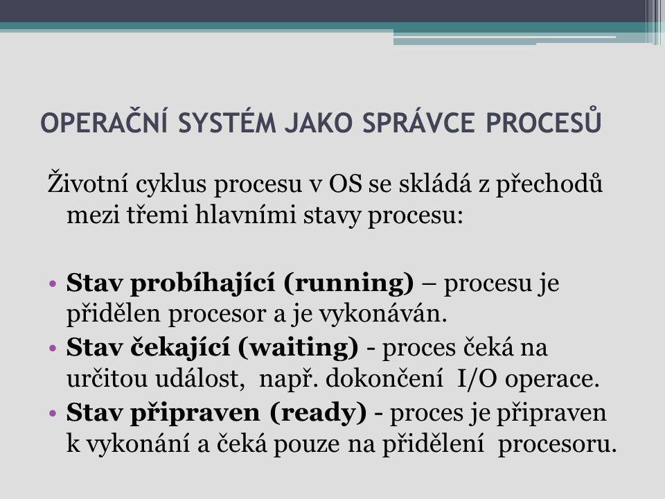 Operační systém jako správce procesů