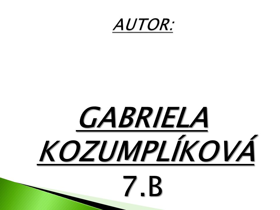 GABRIELA KOZUMPLÍKOVÁ 7.B