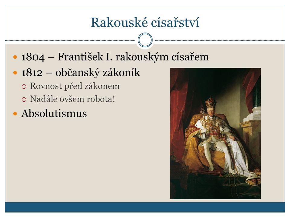 Rakouské císařství 1804 – František I. rakouským císařem
