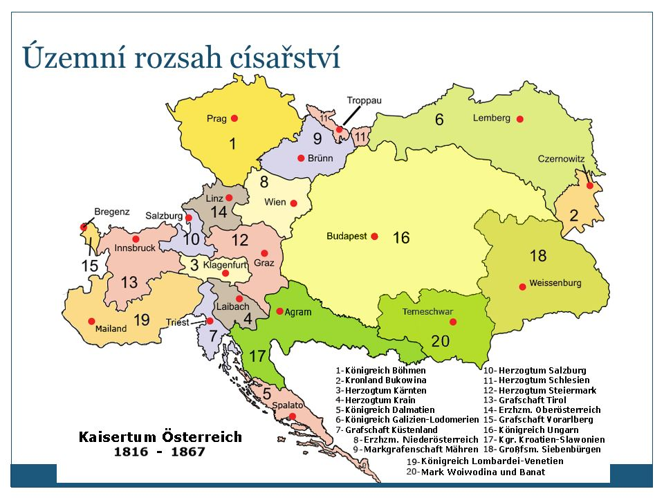 Územní rozsah císařství