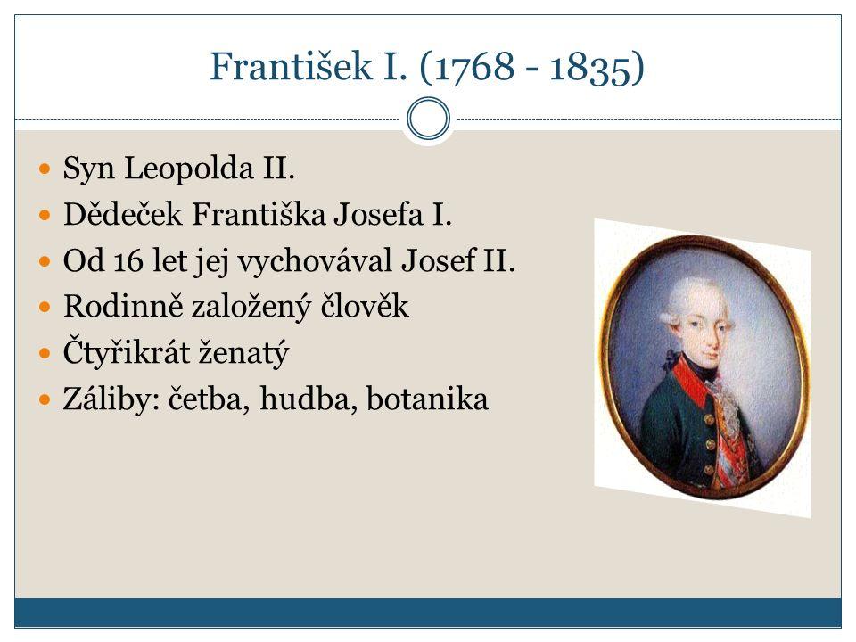 František I. (1768 - 1835) Syn Leopolda II.