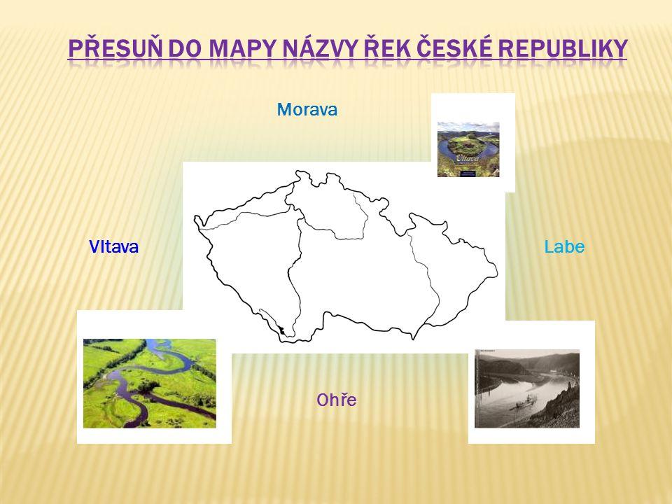 Přesuň do mapy názvy řek České republiky