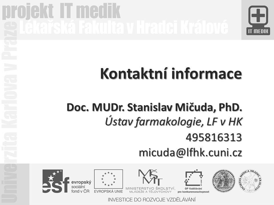 Doc. MUDr. Stanislav Mičuda, PhD.