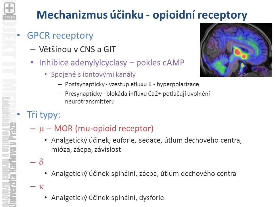 Mechanizmus účinku - opioidní receptory