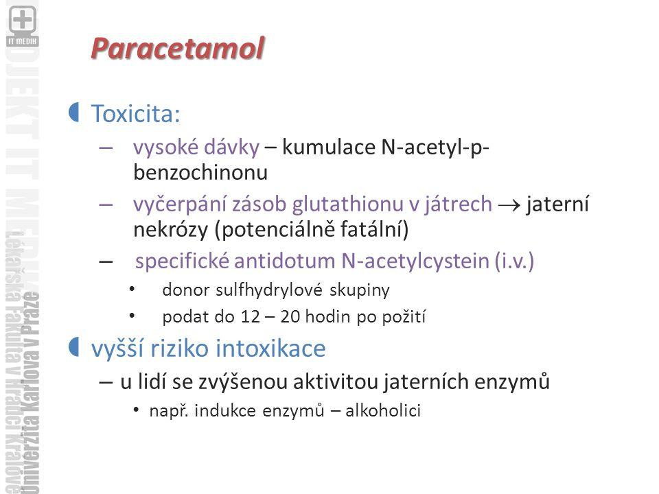 Paracetamol Toxicita: vyšší riziko intoxikace