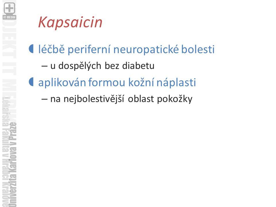 Kapsaicin léčbě periferní neuropatické bolesti