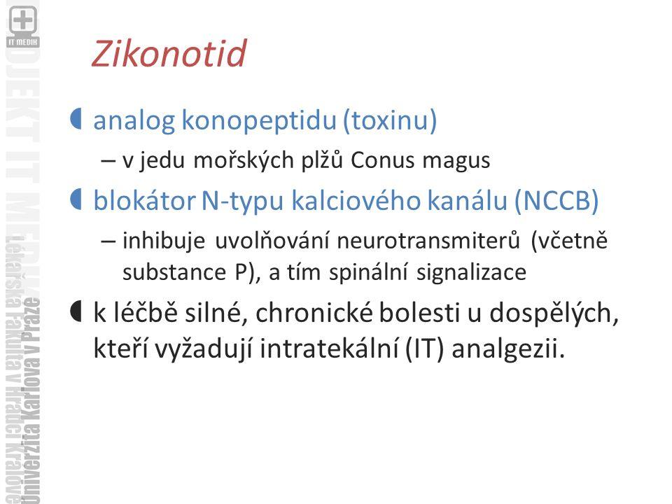 Zikonotid analog konopeptidu (toxinu)