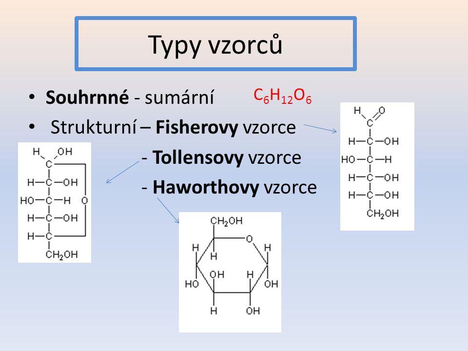 Typy vzorců Souhrnné - sumární Strukturní – Fisherovy vzorce