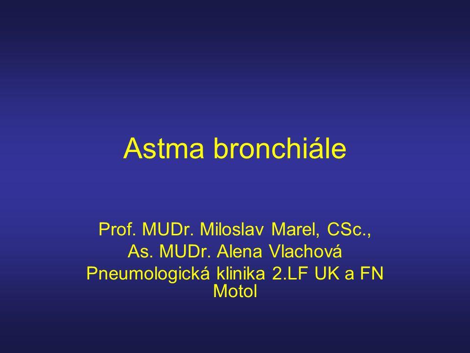 Astma bronchiále Prof. MUDr. Miloslav Marel, CSc.,