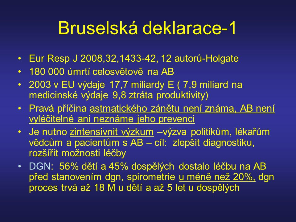 Bruselská deklarace-1 Eur Resp J 2008,32,1433-42, 12 autorů-Holgate