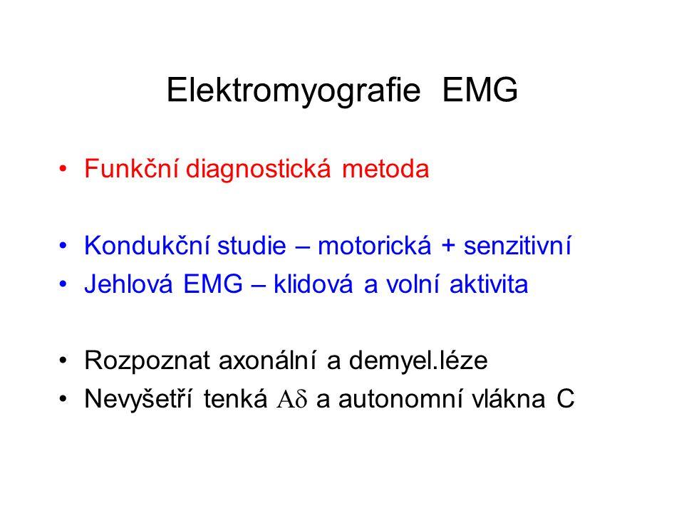 Elektromyografie EMG Funkční diagnostická metoda