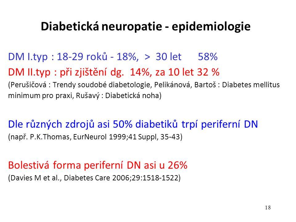 Diabetická neuropatie - epidemiologie