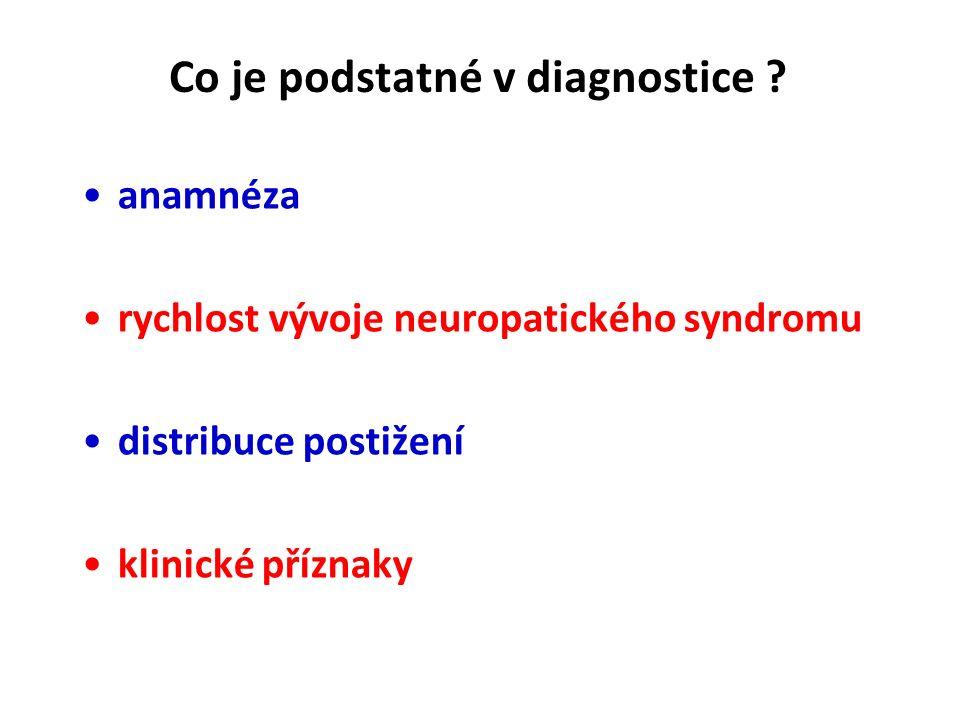 Co je podstatné v diagnostice