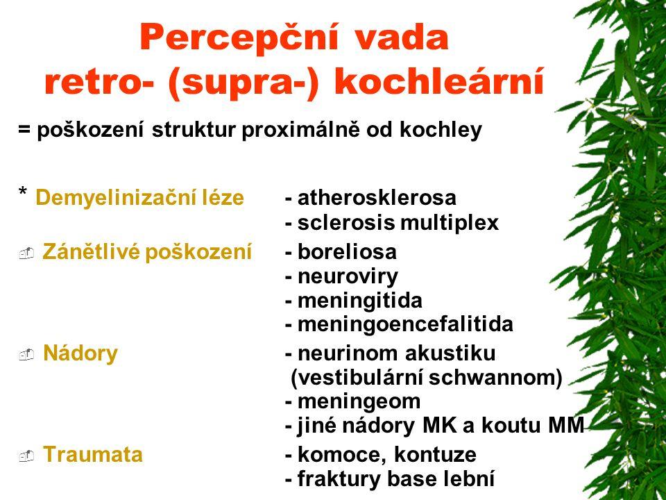 Percepční vada retro- (supra-) kochleární