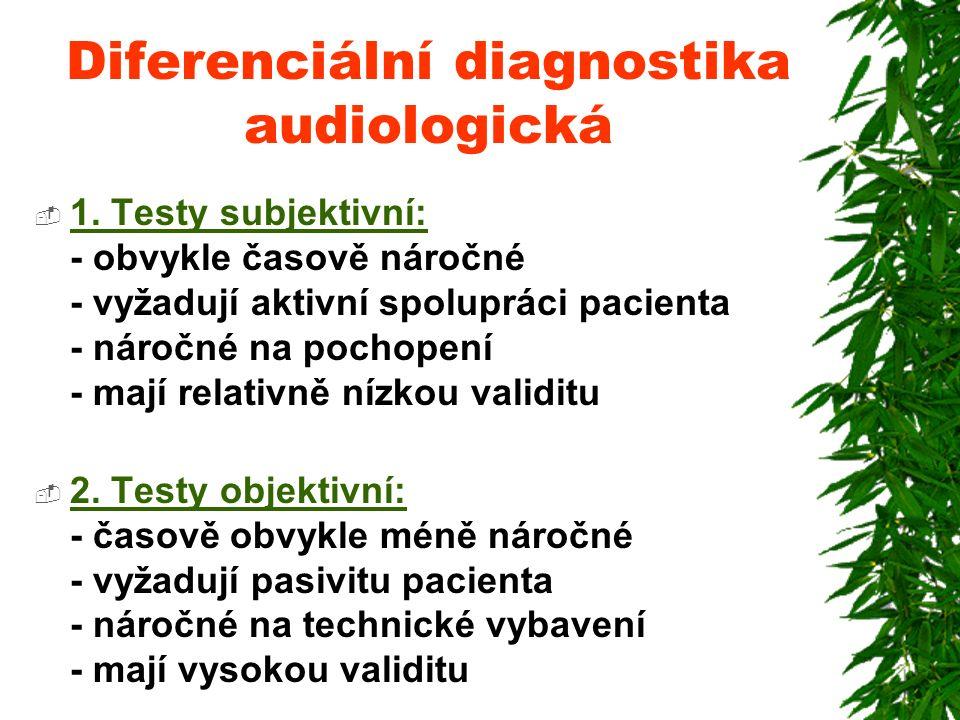 Diferenciální diagnostika audiologická