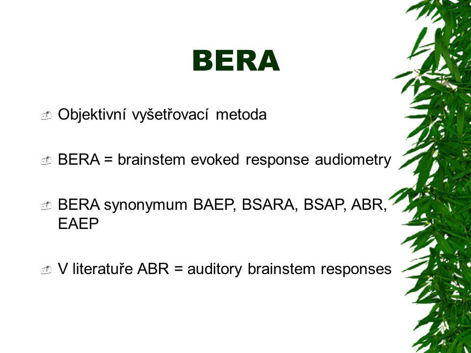 BERA Objektivní vyšetřovací metoda