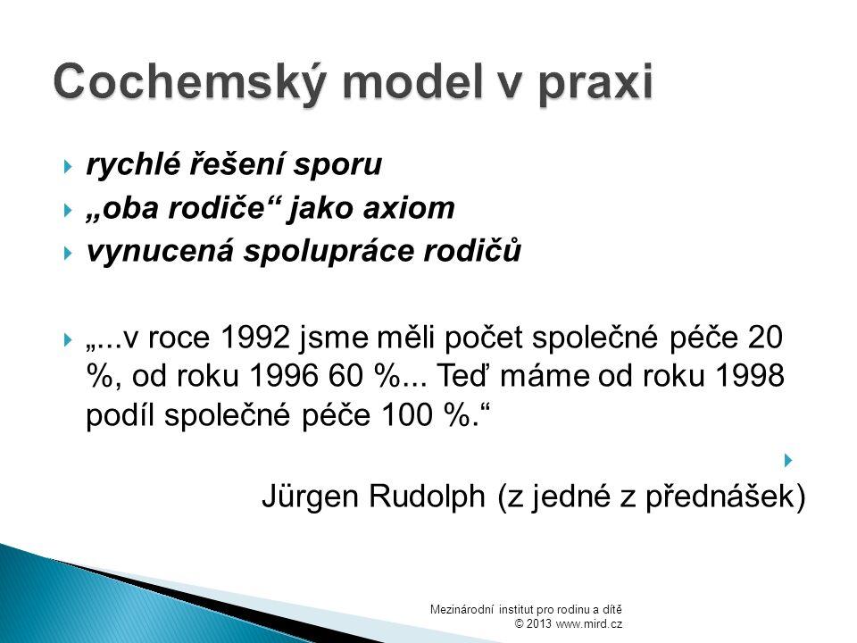 Cochemský model v praxi